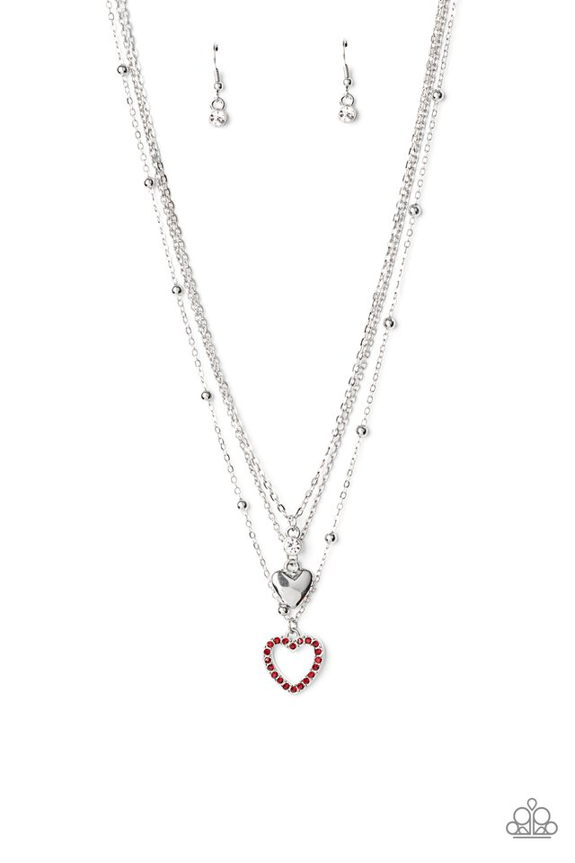Never Miss a Beat - Red - Paparazzi Necklace Image