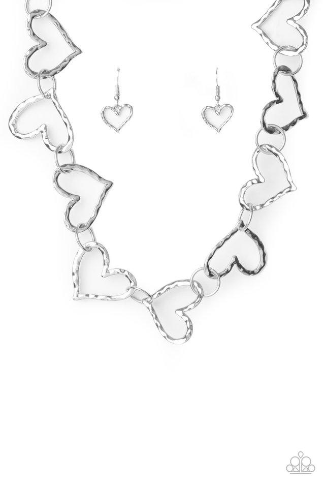 Vintagely Valentine - Silver - Paparazzi Necklace Image