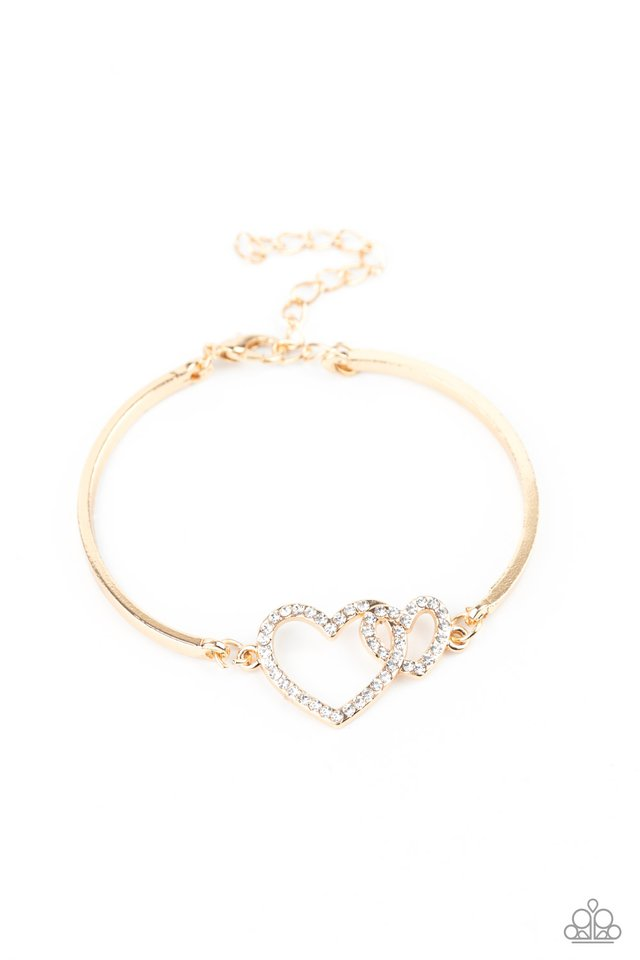 Cupid is Calling - Gold - Paparazzi Bracelet Image