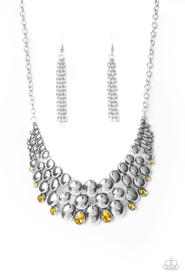 Powerhouse Party - Yellow - Paparazzi Necklace Image