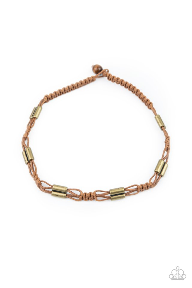 Offshore Drifter - Brown - Paparazzi Necklace Image