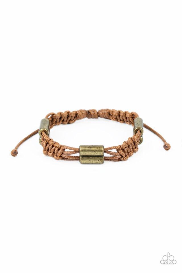 Always Adrift - Brown - Paparazzi Bracelet Image