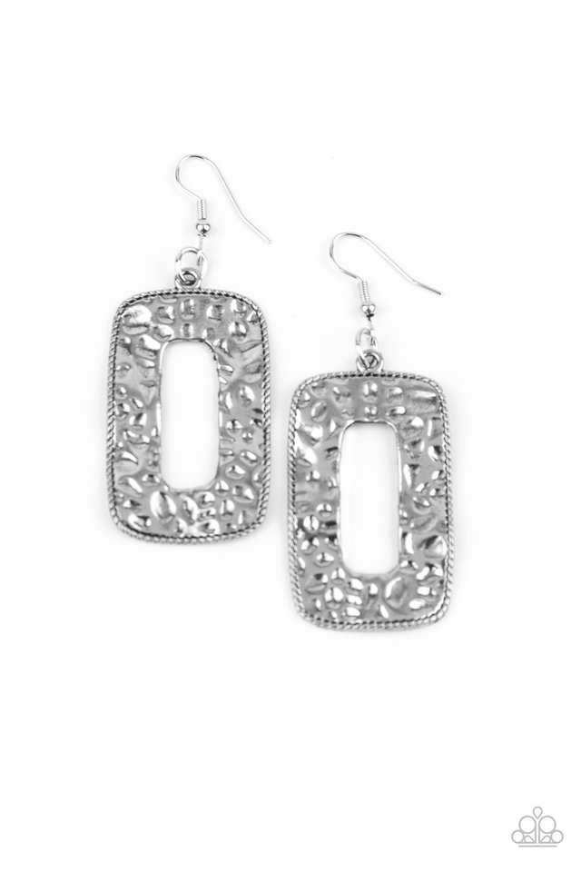 Primal Elements - Silver - Paparazzi Earring Image