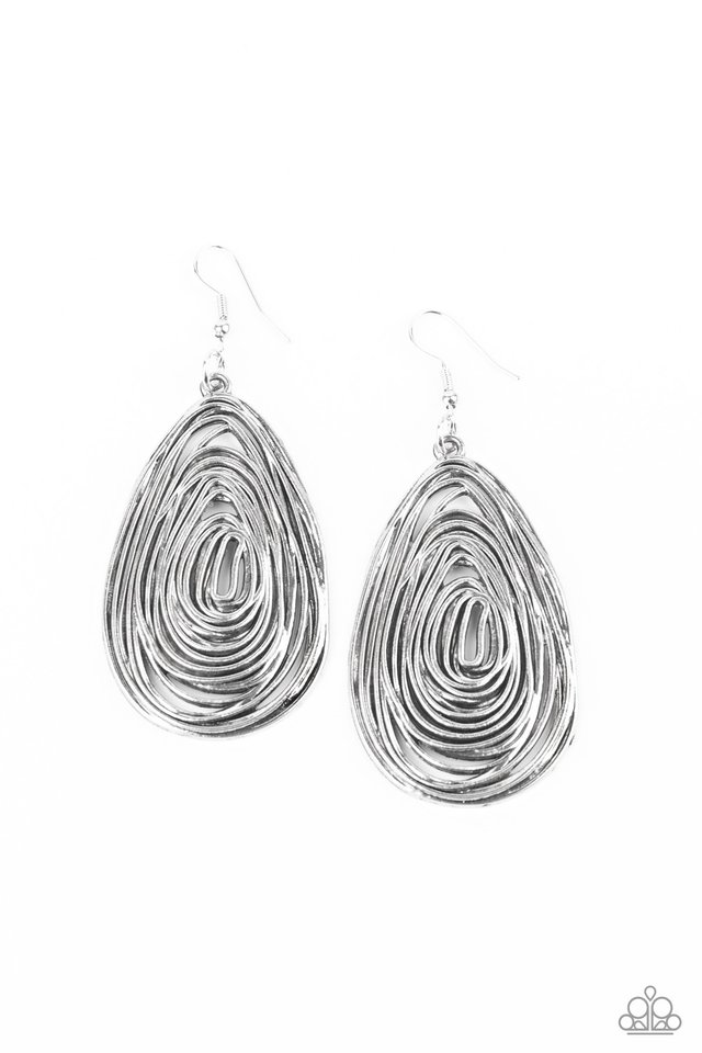 Rural Ripples - Silver - Paparazzi Earring Image
