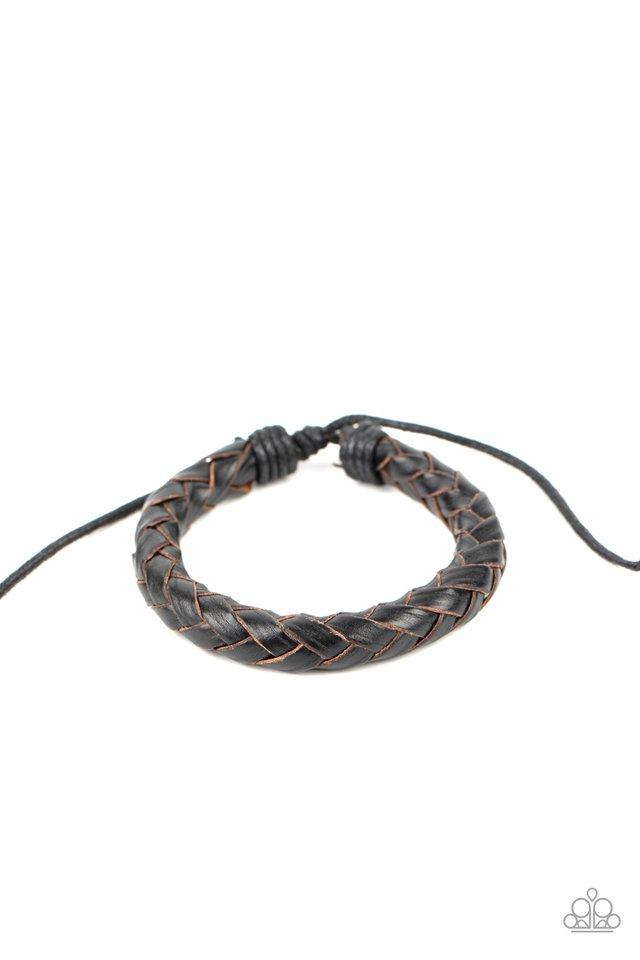 Homespun Comfort - Black - Paparazzi Bracelet Image