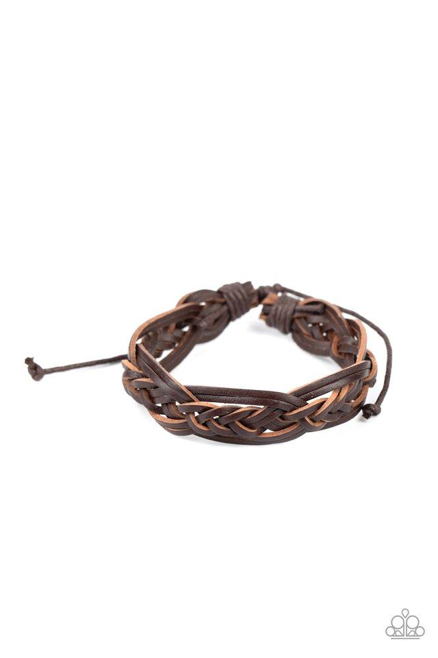 Too Close To HOMESPUN - Brown - Paparazzi Bracelet Image