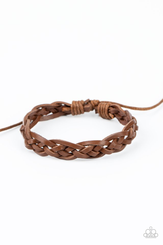 Time To Hit The RODEO - Brown - Paparazzi Bracelet Image