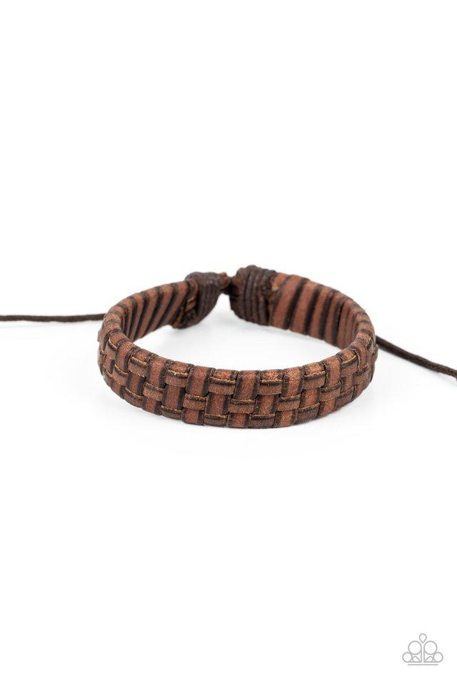 Rugged Pioneer - Brown - Paparazzi Bracelet Image
