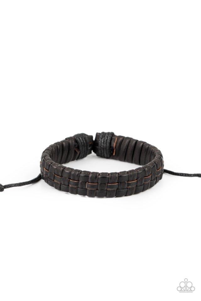 Rugged Pioneer - Black - Paparazzi Bracelet Image