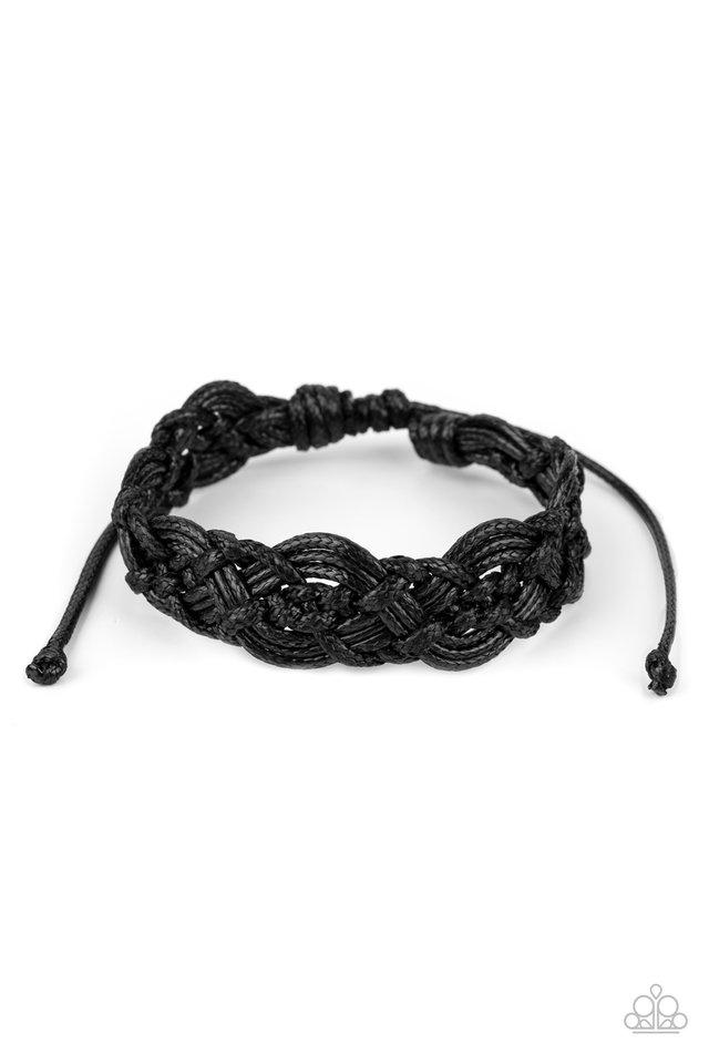 Coastal Diving - Black - Paparazzi Bracelet Image