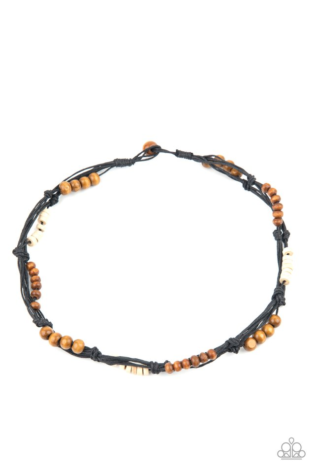 Tiki Tour - Black - Paparazzi Necklace Image