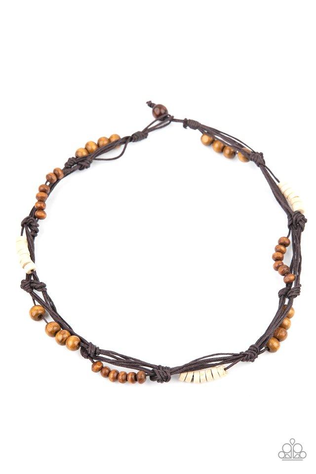 Tiki Tour - Brown - Paparazzi Necklace Image