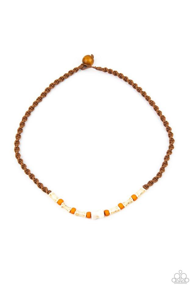 Beach Shark - Orange - Paparazzi Necklace Image