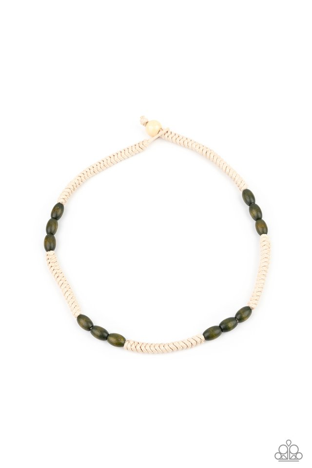 Tahiti Tide - Green - Paparazzi Necklace Image