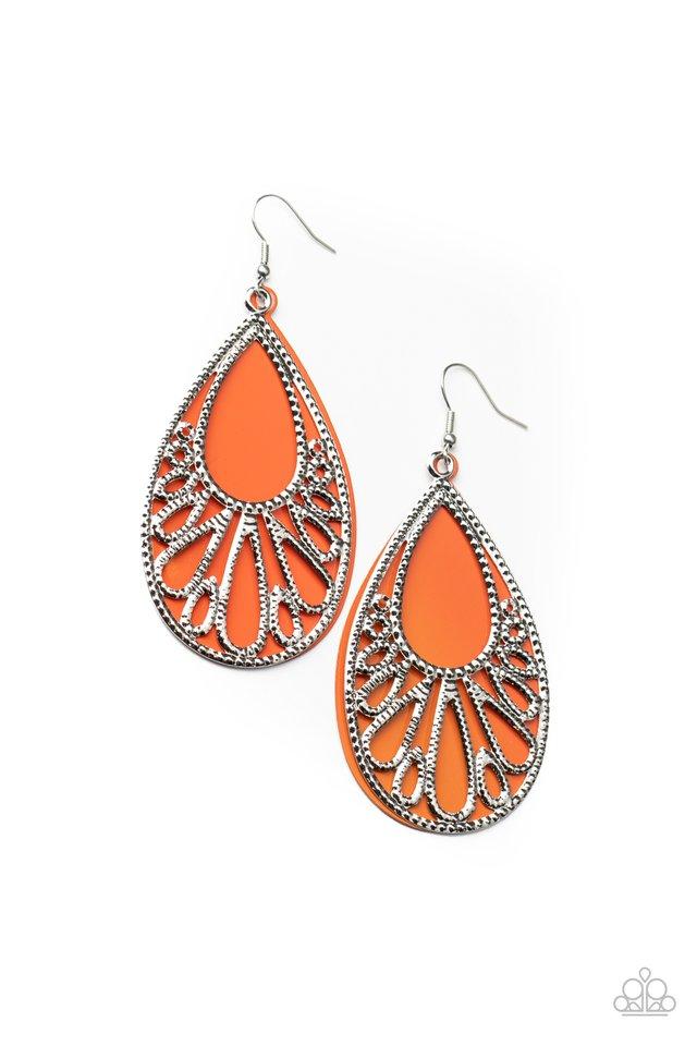 Loud and Proud - Orange - Paparazzi Earring Image