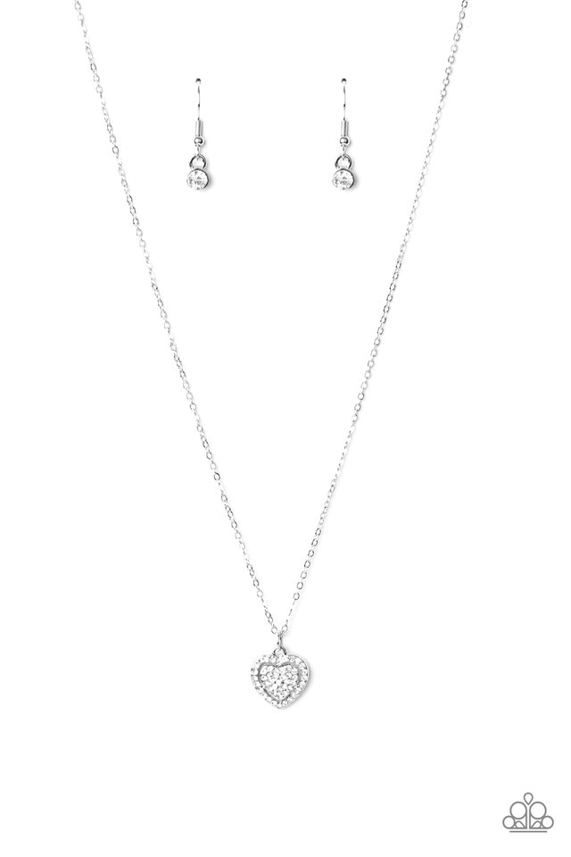 My Heart Goes Out To You - White - Paparazzi Necklace Image