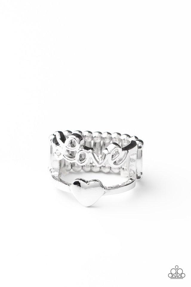 Heartstring Harmony - Silver - Paparazzi Ring Image