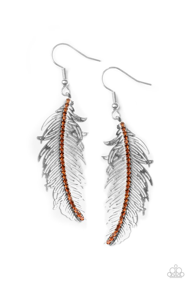 Fearless Flock - Brown - Paparazzi Earring Image