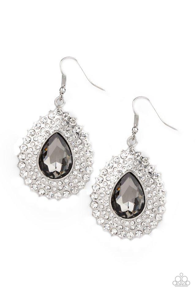 Exquisitely Explosive - Silver - Paparazzi Earring Image
