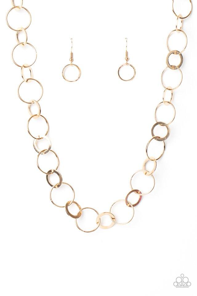 Revolutionary Radiance - Gold - Paparazzi Necklace Image