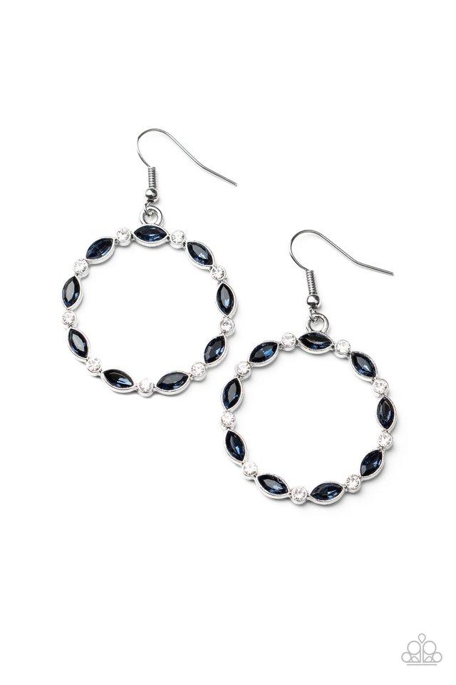 Crystal Circlets - Blue - Paparazzi Earring Image