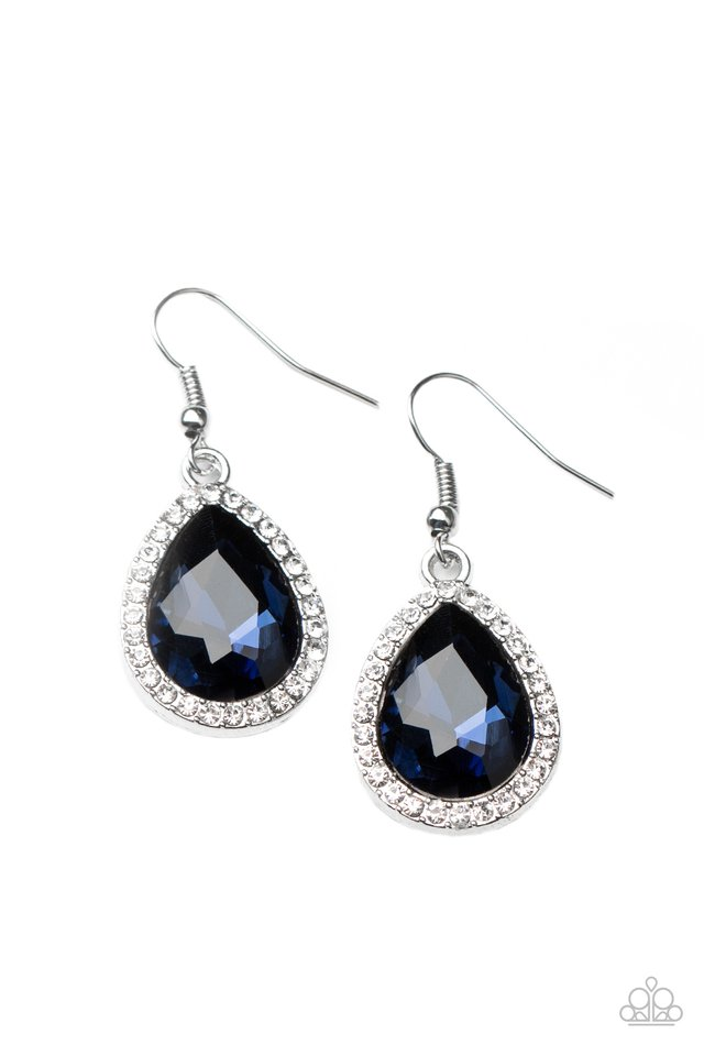Dripping With Drama - Blue - Paparazzi Earring Image