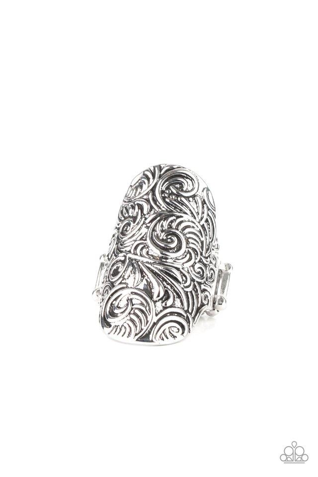 Paisley Paradise - Silver - Paparazzi Ring Image