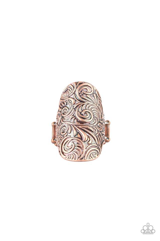 Paisley Paradise - Copper - Paparazzi Ring Image
