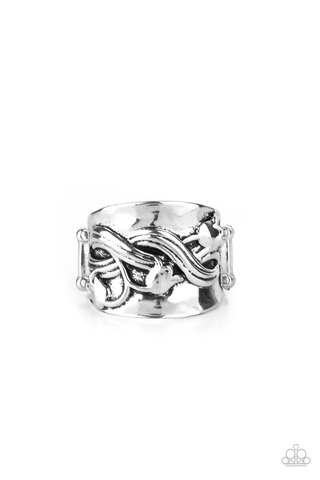 Follow The Tulips - Silver - Paparazzi Ring Image