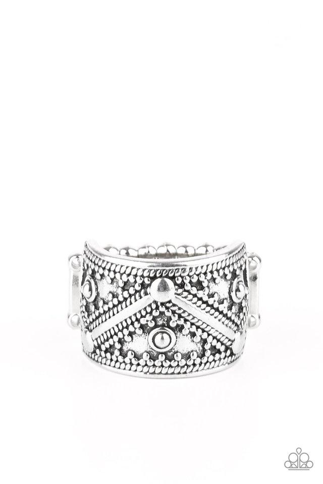 Primal Patterns - Silver - Paparazzi Ring Image