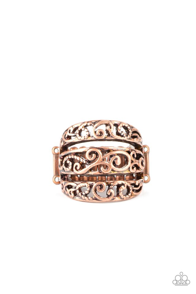 FRILLED To Be Here - Copper - Paparazzi Ring Image