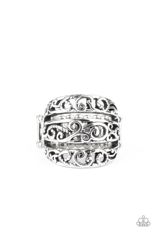 FRILLED To Be Here - Silver - Paparazzi Ring Image