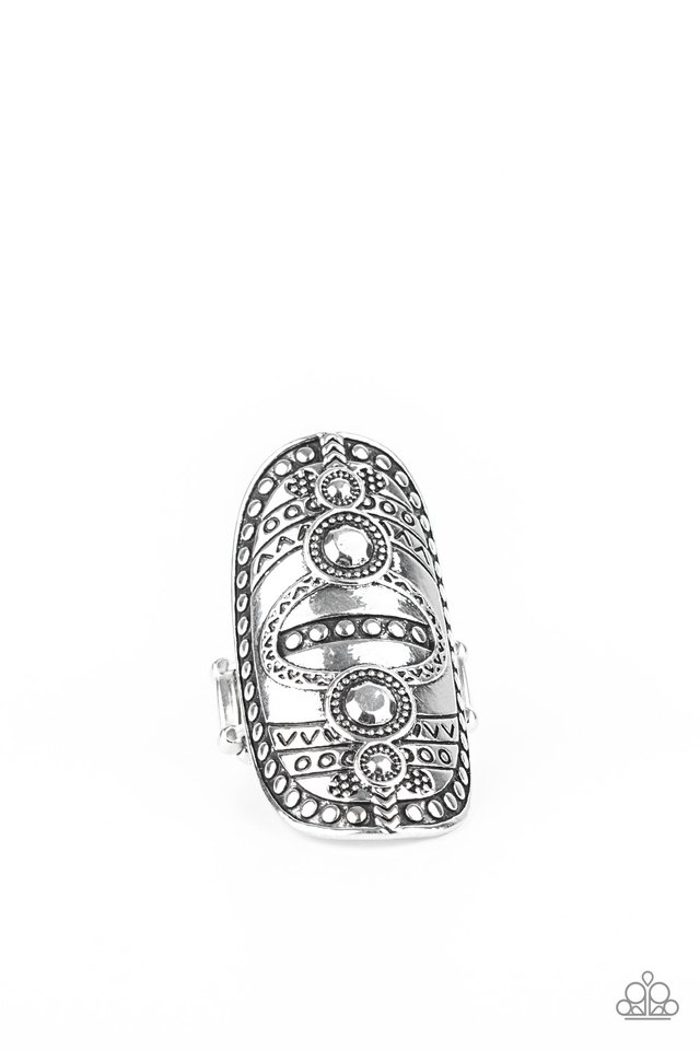 Tiki Trail - Silver - Paparazzi Ring Image