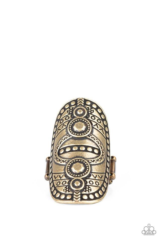 Tiki Trail - Brass - Paparazzi Ring Image