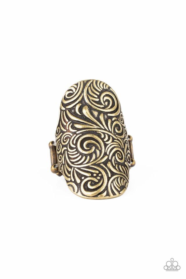 Paisley Paradise - Brass - Paparazzi Ring Image