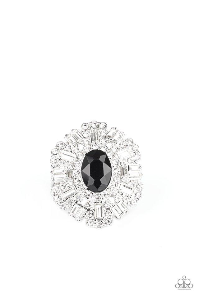 Iceberg Ahead - Black - Paparazzi Ring Image