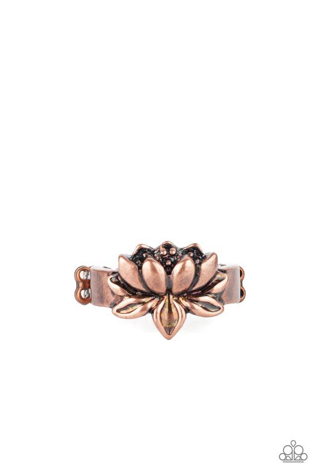 Lotus Crowns - Copper - Paparazzi Ring Image