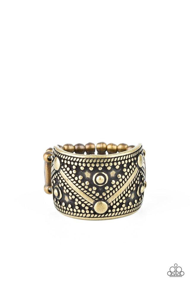 Primal Patterns - Brass - Paparazzi Ring Image