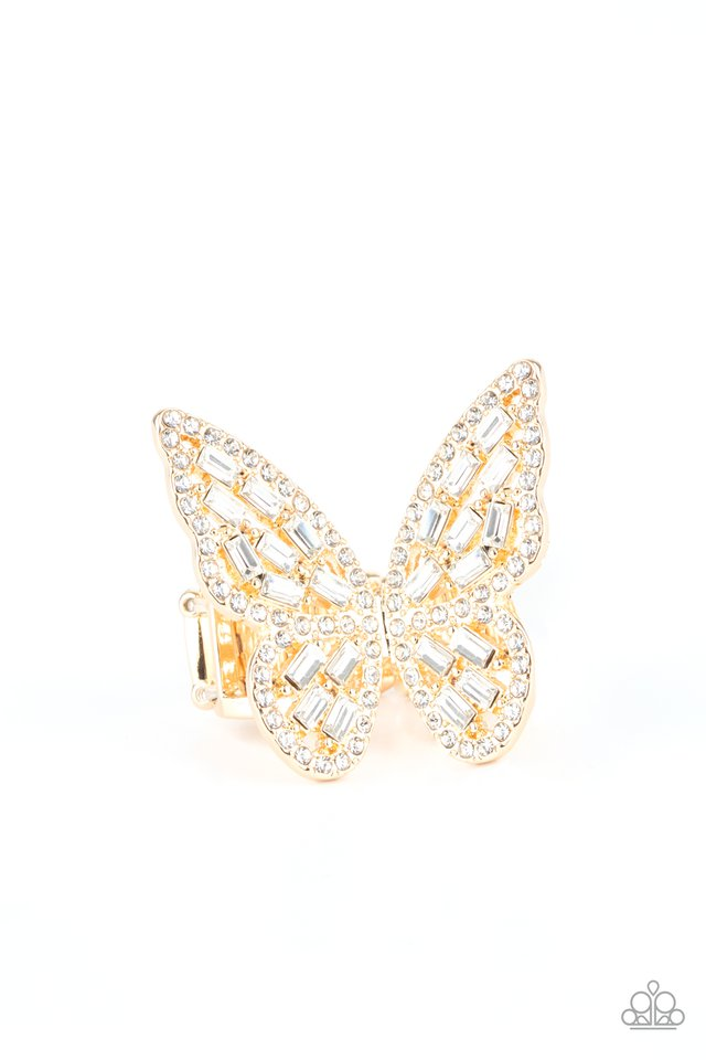 Flauntable Flutter - Gold - Paparazzi Ring Image