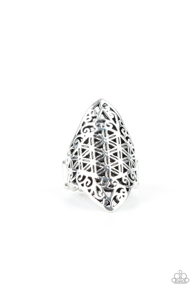 FRILL Ride - Silver - Paparazzi Ring Image