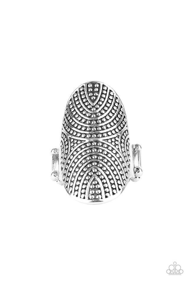 Crop Circles - Silver - Paparazzi Ring Image