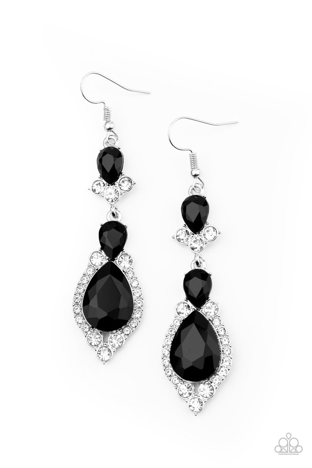 Fully Flauntable - Black - Paparazzi Earring Image