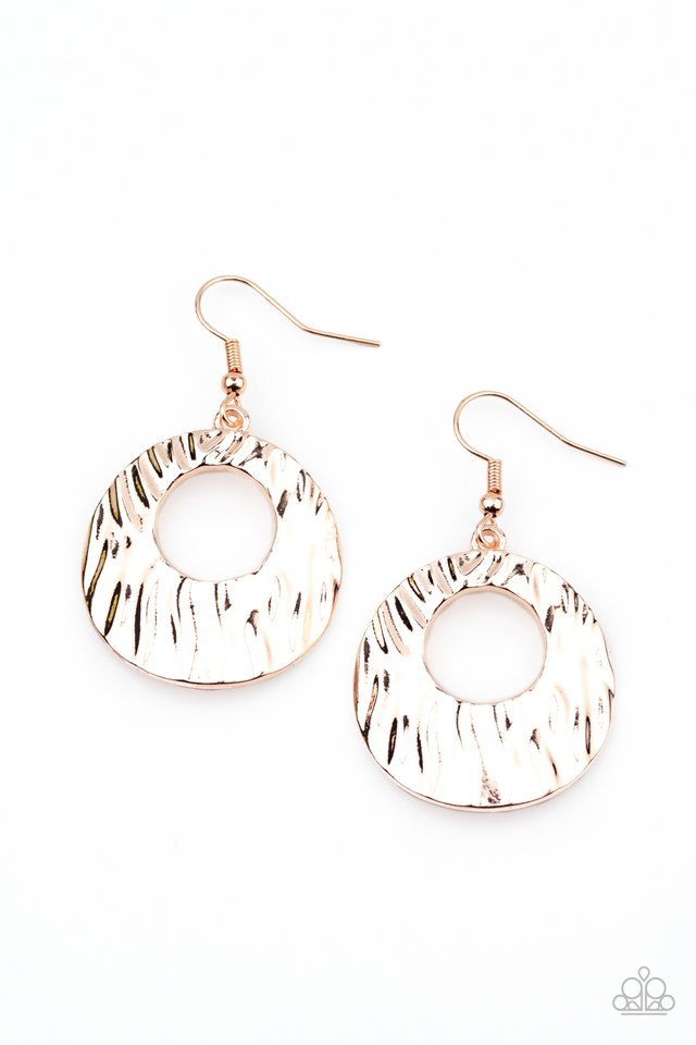 Warped Perceptions - Rose Gold - Paparazzi Earring Image