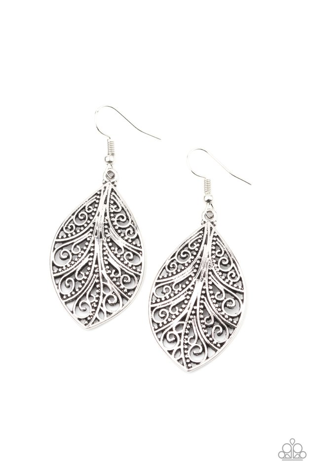 One VINE Day - Silver - Paparazzi Earring Image