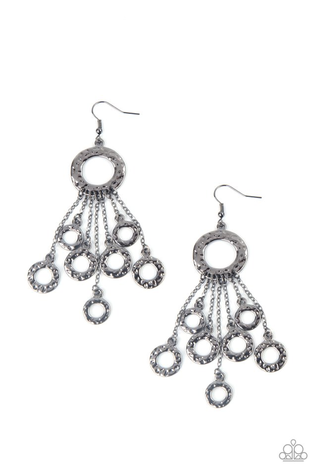 Right Under Your NOISE - Black - Paparazzi Earring Image