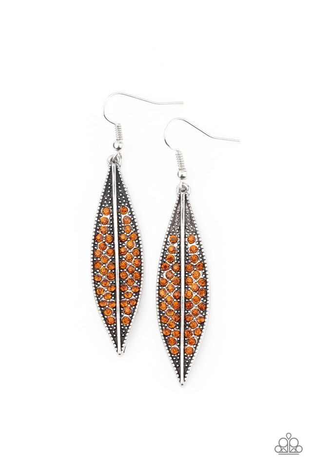 Hearty Harvest - Brown - Paparazzi Earring Image