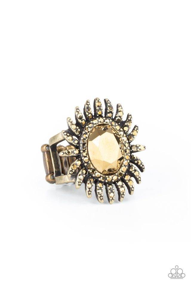Ultra Luxe - Brass - Paparazzi Ring Image