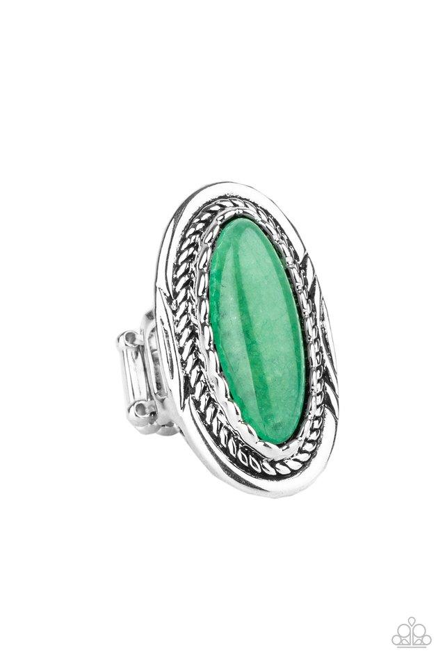 Primal Instincts - Green - Paparazzi Ring Image