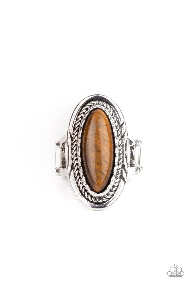 Primal Instincts - Brown - Paparazzi Ring Image