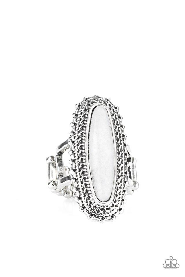 Mystical Mesa - White - Paparazzi Ring Image